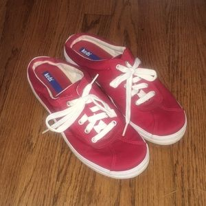 Red slip on Keds woman's shoes size 8.5